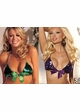 Sequin Bikini Top with Removable Bow inset 1