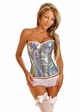 Sequin Rainbow Corset with Lace-Up Back  inset 2