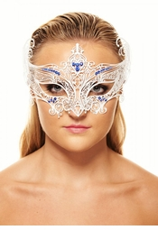Serena Masquerade Mask with Colorful Gems