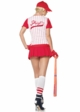 Sexy Baseball Costume in Red and White inset 1