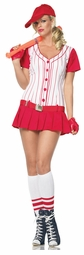 Sexy Baseball Costume in Red and White