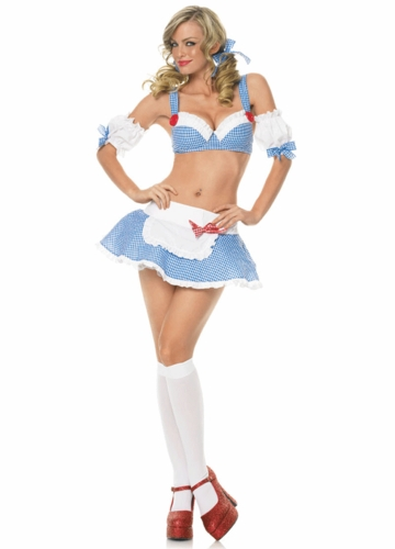 Sexy Dorothy Costume with Puff Sleeves