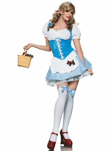 Sexy Dorothy Halloween Costume with Toto Appliqu�