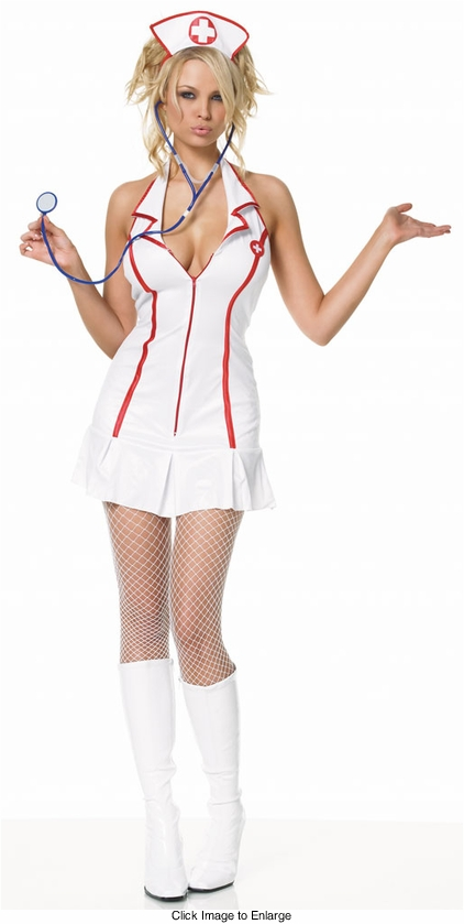 Sexy Nurse Costumes with Halter Front