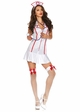 Sexy Nurse Halloween Costume with Halter Front inset 1
