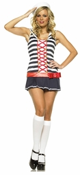 Sexy Sailor Costumes with Black and White Stripes