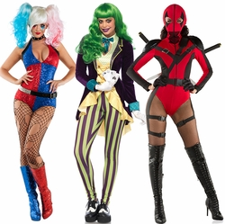 Sexy Superhero  and Villain Halloween Costumes