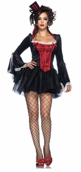 Sexy Vampire Costume with Cape