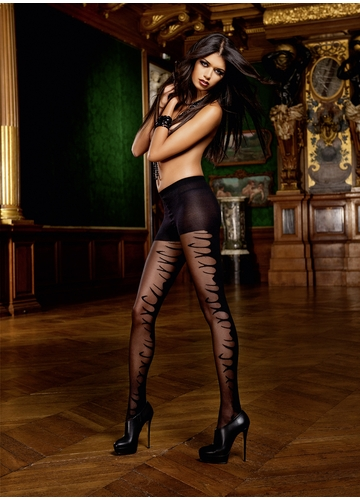 Sheer and Opaque Control Top Pantyhose