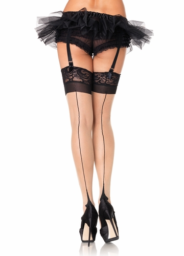 Sheer Cuban Heel Backseam Stockings