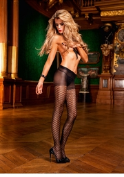 Sheer Diamond Pantyhose with Control Top