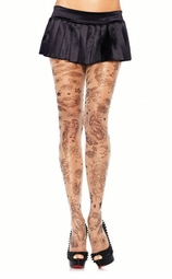 Sheer Sailor Tattoo Print Pantyhose