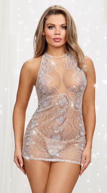 Sheer Sexy Dresses and Skirt Sets
