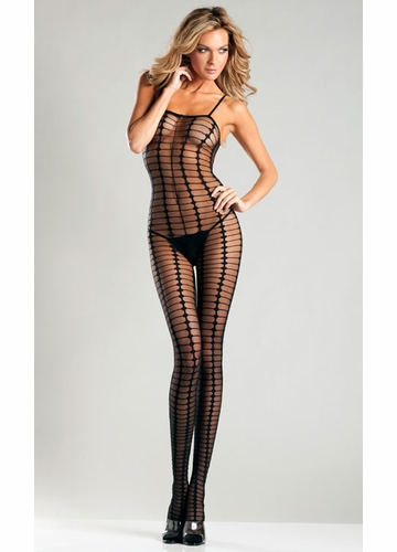 Sheer Spaghetti Strap Bodystocking