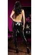 Shiny Black Leggings in Plus Sizes inset 1