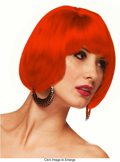 Short Bob Wig in Apple Red