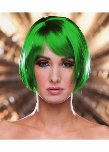 Short Bob Wig Becky in Emerald Green