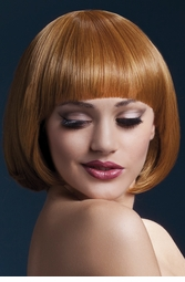 Short Bob Wig Mia with Fringe in Auburn