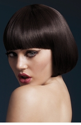 Short Bob Wig Mia with Fringe in Brown