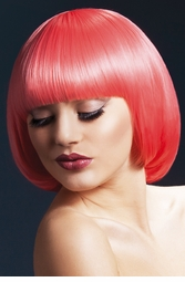 Short Bob Wig with Fringe Mia in Pastel Coral