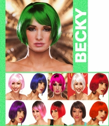 Becky- Short Bob Wig with Sideswept Bangs
