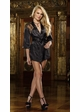 Short Length Kimono Robe with Lace Back, G-String and Padded Hanger inset 3