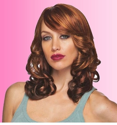 Shoulder Length Wig with Jumbo Curls