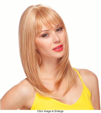Silky and Straight Long Human Hair Blend Wig