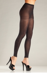 Silver Lurex Footless Tights