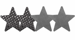 Silver Star Self-Adhesive Pasties