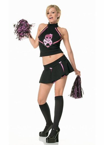 Skull Cheerleader Costume