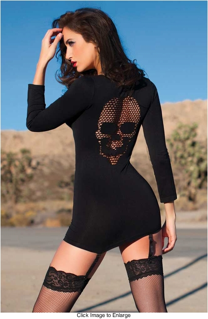 Skull of Anarchy Dress with Fishnet Back