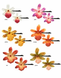 Small Orchid Flower Hair Accents