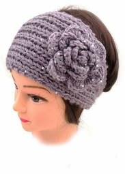 Soft Knit Headband with Mini Sequin Accents