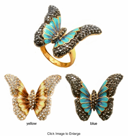 Sparkle Butterfly Ring