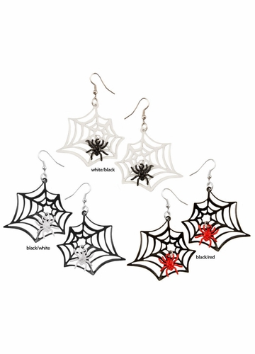 Spider in Spiderweb Earrings