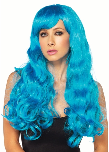 Starbright Blue Long Wig