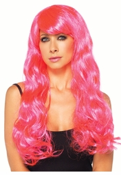 Starbright Pink Long Wavy Wig