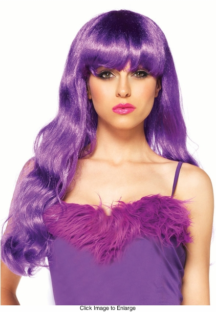 Starbright Purple Long Wig