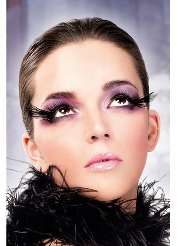 Starlight Black Feather Lashes