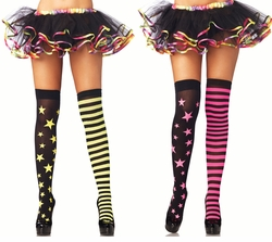Stars and Stripes Opaque Thigh High Stockings