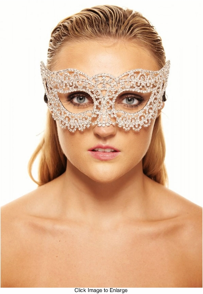 Starshine Crystal Masquerade Mask