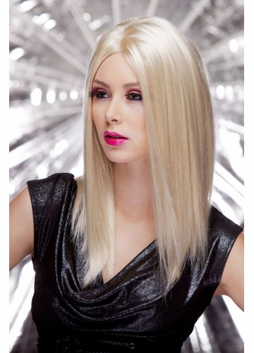 Straight Wig with Razored Edges in California Blonde