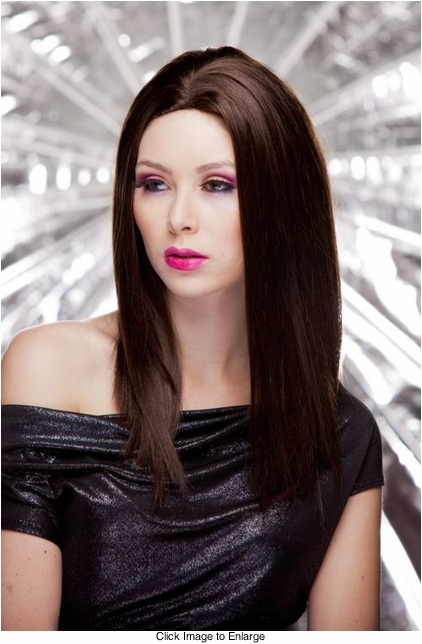 Straight Wig with Razored Edges in Chocolate Brown