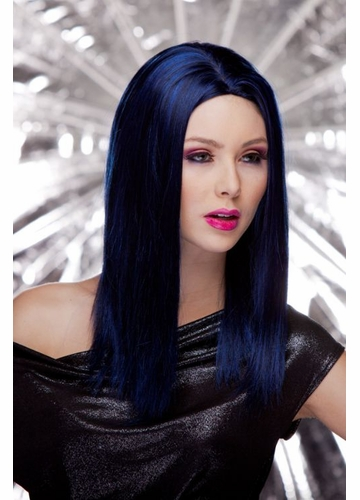 Straight Wig Zen with Razored Edges in Midnight Blue