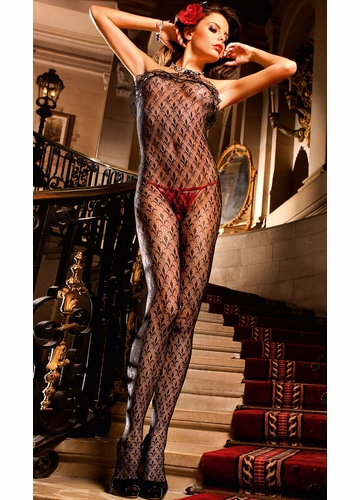 Strapless Fleur Lace Bodystocking