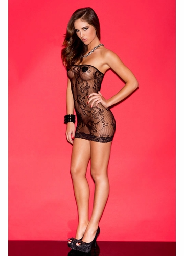 Strapless Lace Mini Dress