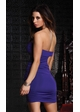 Strapless Mini Dress with Side Cutout and Ornamental Broach inset 1