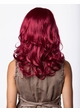 Sultry Shoulder Length Wig with Soft Curls in Burgundy inset 1