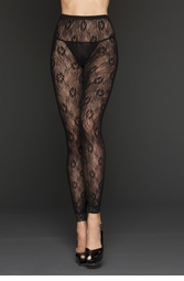 Summer Floral Lace Fooltess Tights